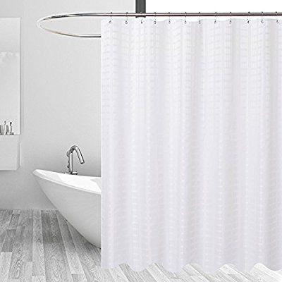 Amazon Com Barossa Design Fabric Shower Curtain White Hotel