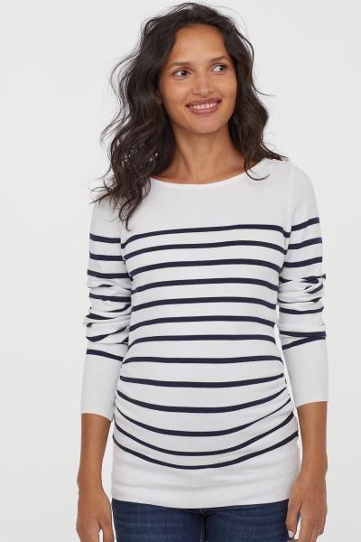 New Women Maternity Stripe Solid V Neck Long Sleeve Top Nursing Blouse Tee Shirt