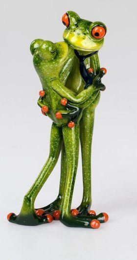 Deko Frosch Paar Kusst Sich Frosche Deko Frosch Figur