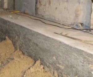 How To Lower Floor Using Bench Footing Basement Flooring Basement Basement Construction