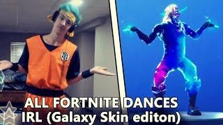 All Fortnite Dances In Real Life Galaxy Skin Edition Living