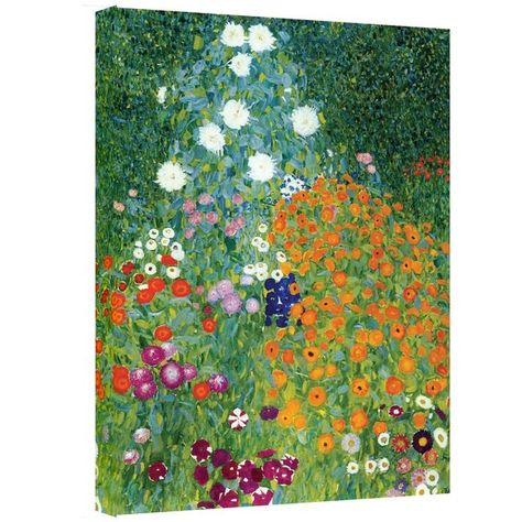 Gustav Klimt Farm Garden Gallery Wrapped Canvas Art Avec Images