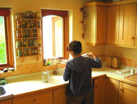 Lazure painted kitchen