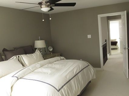 Master bedroom featuring Intellectual Gray from Sherwin Williams ...