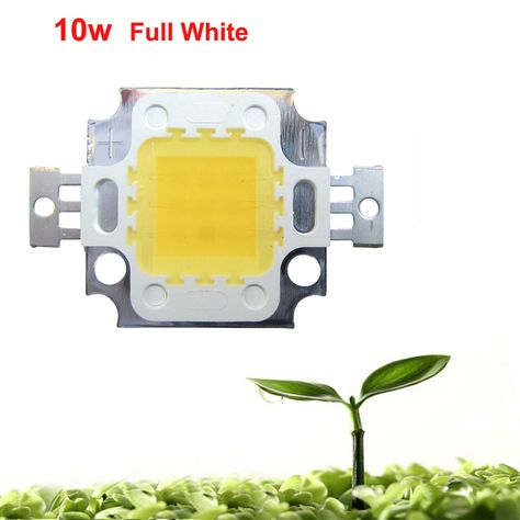 1pcs 10W White Full Spectrum 45mil 380~780nm 900LM 9-12V 900mA-1050mA SMD LED Part Diodes For Plant Grow Light