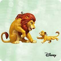 2003 Disney The Lion King Christmas Disney Ornaments Hallmark