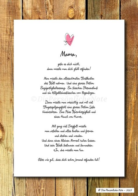 Druck/Print: Liebeserklärung zum Muttertag