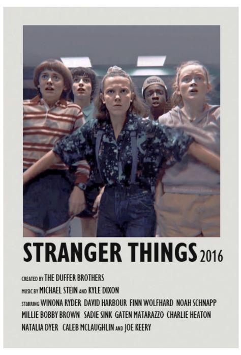 stranger things minimalist poster
