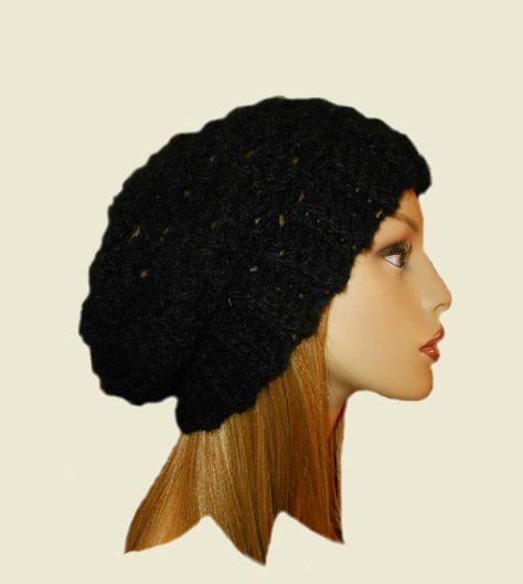 Black Slouchy Hat Beanie. Black Slouchy Hat Beanie. See more. More  information. BLACK SLOUCHY Beanie Hat Slouch Knit Slouchie Beany Teen  Crochet Womens Hats ... ed7e898e763e