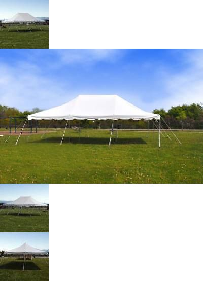 Marquees And Tents 180994 20x30 Commercial Waterproof Party Wedding Pole Tent Outdoor White Vinyl Canopy Buy It Now Only 624 89 O Party Canopy White Vinyl