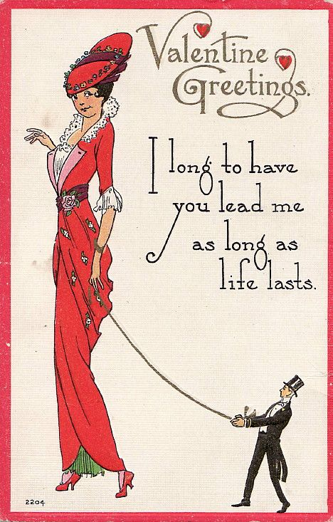 Ready for the Whip by Vintage Visions Vintage BDSM – No Strings Attached Valentines Card