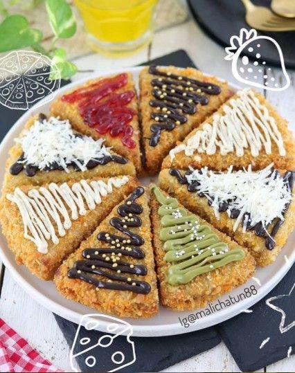 Cara Membuat Cemilan Dari Pisang : membuat, cemilan, pisang, Pizza, Nugget, Pisang, Makanan,, Cemilan,, Resep