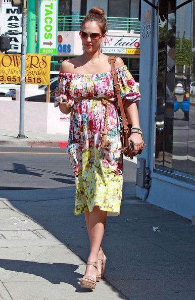 eba86f8a7c98a Jessica Alba Wedges - Jessica Alba Fashion Lookbook - StyleBistro