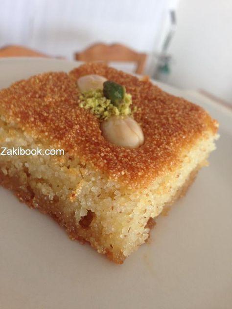 طريقة الهريسة كل حبه بحبتها بنكهتها اﻻصليه زاكي Arabic Sweets Recipes Arabic Dessert Desserts