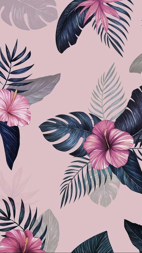 Hawaiian Dreams  #foundonweheartit #wallpaper #iphone #background #hawaiian #hawaii #flowers #pink #hibiscus