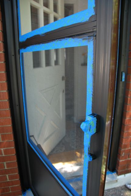 Painted Metal Storm Door And Front Door Front Doors Doors And