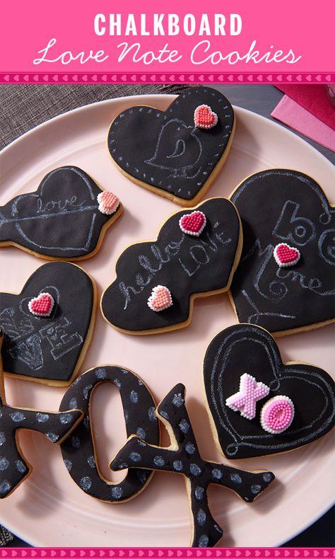 Chalkboard Valentine Cookies
