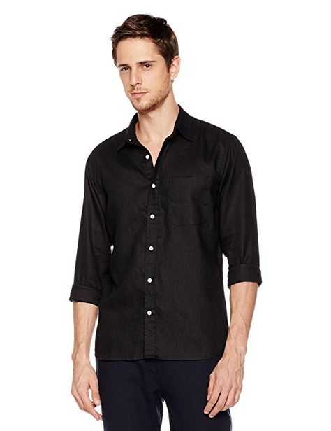 Isle Bay Linens Mens Standard-Fit Long Sleeve Casual Shirt