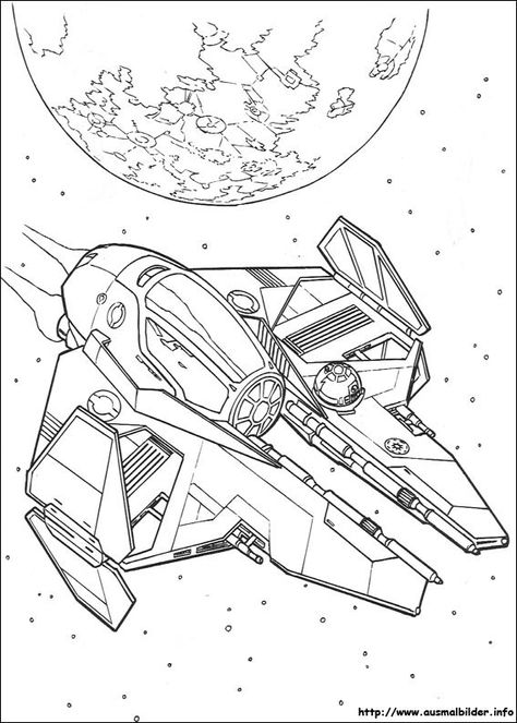 Ausmalbilder Star Wars Raumschiffe Star Wars Malbuch Star