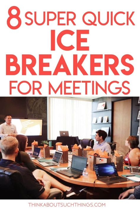 Build rapport, increase trust, and prompt creativity with these dead simple meeting icebreakers. Can be used with remote attendees, too! Team Building Icebreakers, Fun Icebreakers, Icebreaker Activities, Icebreakers For Meetings, Teacher Team Building, Team Building Activities For Adults, Leadership Activities, Group Activities, Quick Ice Breakers