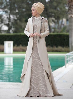 Kugu Ikili Takim Abiye Elbise Vizon Selma Sari Design Pakaian Pesta Pakaian Pesta
