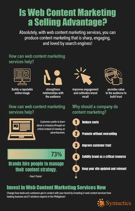 Web Content Marketing Is Your Selling Advantage - Syntactics, Inc.