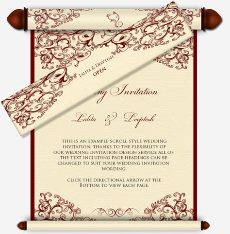 Scroll Type Wedding Invatations Scroll Style Email Wedding