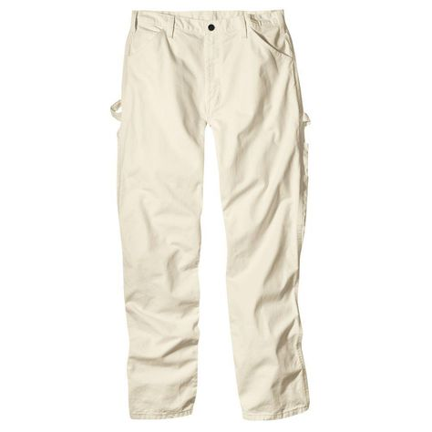 Dickies Men's Relaxed-Fit Painter's Utility Pant, White, x Painter's work pant in durable drill fabric with carpenter pockets and straight leg that fits over boots Double back pocket Triple stitched felled seams Wide deeper rule pocket on right leg Retro Outfits, Cute Outfits, Over Boots, Fit 30, Work Pants, Men's Pants, Mens Fitness, Outfits, Style