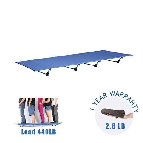 Outdoor Bed Ultra Lightweight Bed Portable cot Free Storage Bag Included,2.8 Pounds DESERT WALKER Camping cots