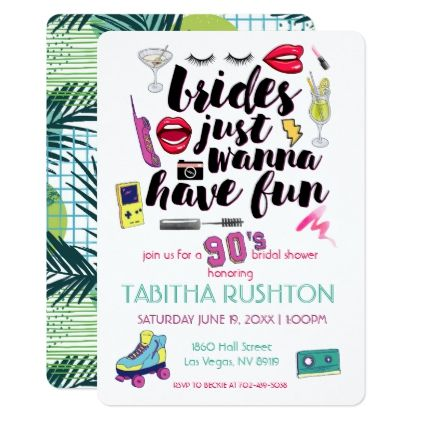 90s Throwback Bridal Shower Invitation Zazzle Com Bridal