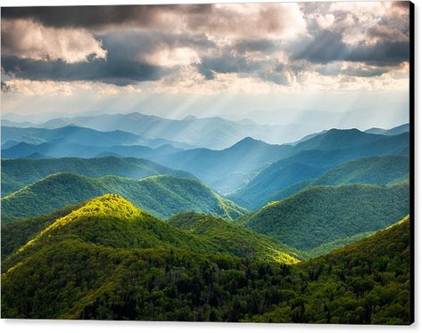 Great Smoky Mountains National Park Nc Western North Carolina Canvas Print Canvas Art By Dave Allen In 2020 Mountain Landscape Photography Great Smoky Mountains National Park Mountain Photography