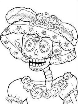 35 Imagenes De Catrinas Para Imprimir Y Colorear En Casa Catrinas10 Dibujo Dia De Muertos Dia Del Nino Dibujos Calaveras Mexicanas Para Colorear