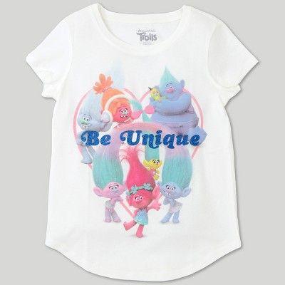 Dark Heather Grey DreamWorks Trolls Juniors Graphic Raglan T-Shirt XL