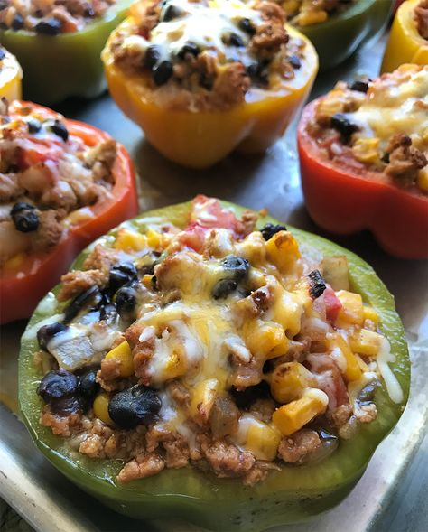 Lean Guilt-Free Taco-Stuffed Peppers