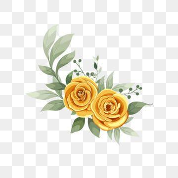 Golden Flower Simple Design Watercolor Floral Flowers Png Transparent Clipart Image And Psd File For Free Download Flower Illustration Watercolor Flower Illustration Watercolor Flower Wreath