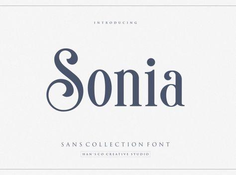 Sonia Sans Serif Font