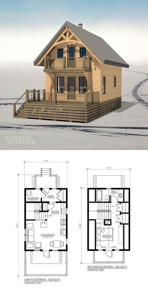 Nunavut 697 Robinson Plans Tiny House Cabin House Plans Small House Plans