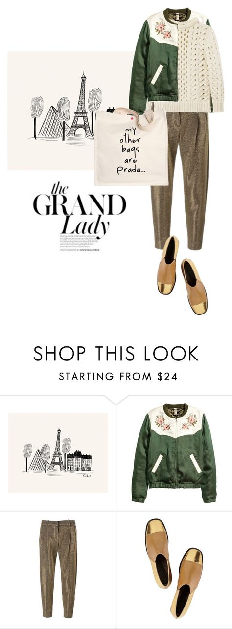 """""""The Grand Lady"""" by natyleygam ❤ liked on Polyvore featuring Rifle Paper Co, Gianluca Capannolo, Louis Vuitton, Marni and Prada"""