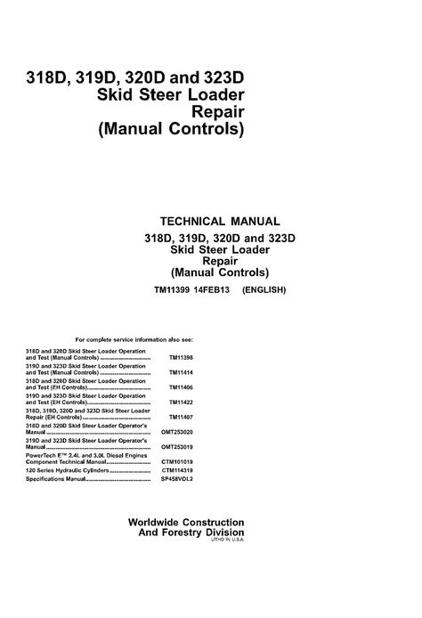 John Deere FF Front Mower Technical Manual Tm Pdf