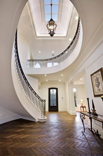Sold / The Ridge, Canterbury. Designed by award winning architect, Phillip Mannerheim, this opulent entrance makes for a mesmerising point of view.