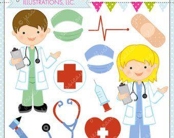 Instant Download Doctor Clipart Or Nurse Clipart For Etsy Digital Clip Art Clip Art Digital Stamps