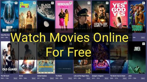 Best Site to Watch Movies Online For Free in 2020