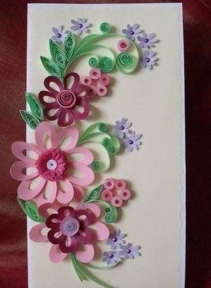 Quilling Fringed Flowers Mother S Day Quilling Flowers Paper