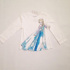 Old Navy Baby Girl Long Sleeve White Disney Elsa Frozen Shirt ...