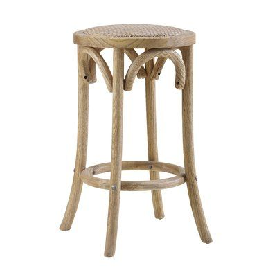 Mistana Kaci Bar Counter Stool Color Light Wood Seat Height