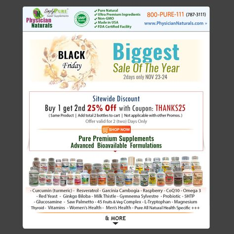 682863dc05f 2 days only November 23-24 - Buy 1 get 2nd 25% OFF with Coupon  THANKS25 -  Deals - Curcumin (turmeric) - Resveratrol - Garcinia Cambogia - Raspberry -  CoQ10 ...