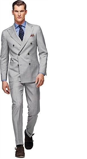 Light Grey Double-Breasted Soho Suit #SuitSupply | Business attire ...
