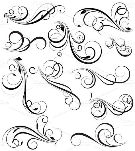 Check out Swirly vectors Design Elements by truemitra on Cre.- Check out Swirly vectors Design Elements by truemitra on Creative Market Check out Swirly vectors Design Elements by truemitra on Creative Market - Tattoo Lettering Styles, Chicano Lettering, Graffiti Lettering, Script Lettering, Tattoo Fonts Alphabet, Cursive Alphabet, Calligraphy Alphabet, Calligraphy Tattoo, Swirl Tattoo