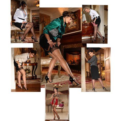 """Authentic Nylon Stockings"" by secretsinlace on Polyvore"