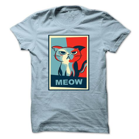 Grumpy Cat Meow Shirt by KKTees on Etsy